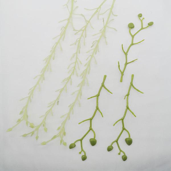 Artificial phalaenopsis hortensia tallo tallo de la flor arreglo de flores material rama de flores