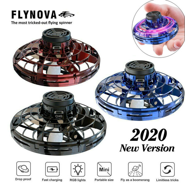 best selling FlyNova UFO Drone Helicopter Anti-collision Flying Globe Mini Drone LED Mini USB Infraed Drone Aircraft 3 Colors CCA11927 5pcs