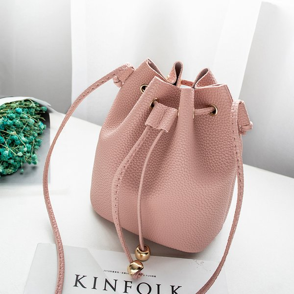Cheap Fashionbags for women handbag small purse strawing bucket bags candy color solid mini cell phone bag lady fashion cute cross body