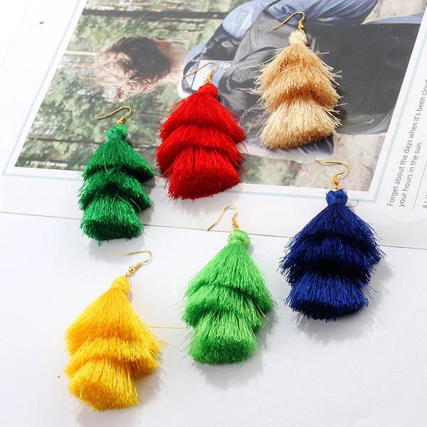 Pendientes largos de la borla de la vendimia para las mujeres de la joyería femenina niñas moda pendiente bohemio hecho a mano pendientes de la borla