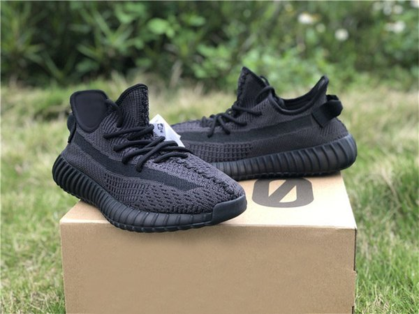 New Release Black Static V2 3M Shoes Lace Reflective Man And Women Running Shoes Newest Sneakers FU9006 FU9013 With Original Box US5-12