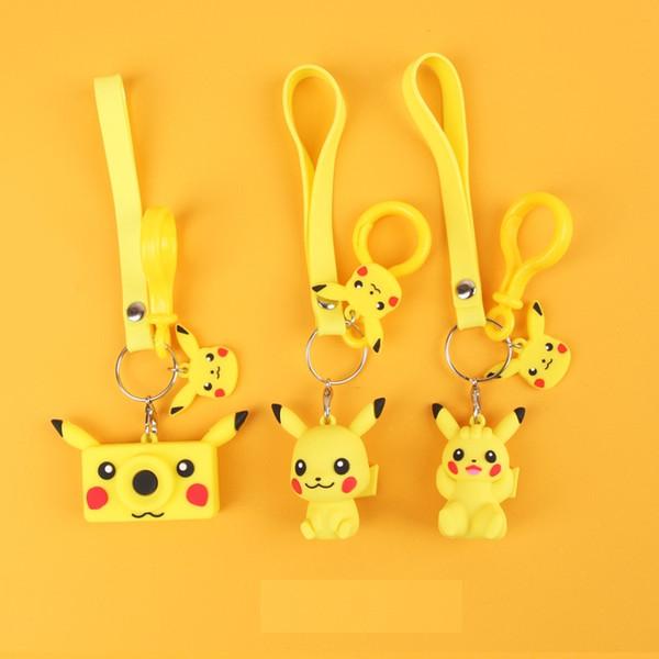 Pikachu llavero colgante artefacto bebé animación muñeca juguetes lindo regalo creativo llavero anillo colgante L249