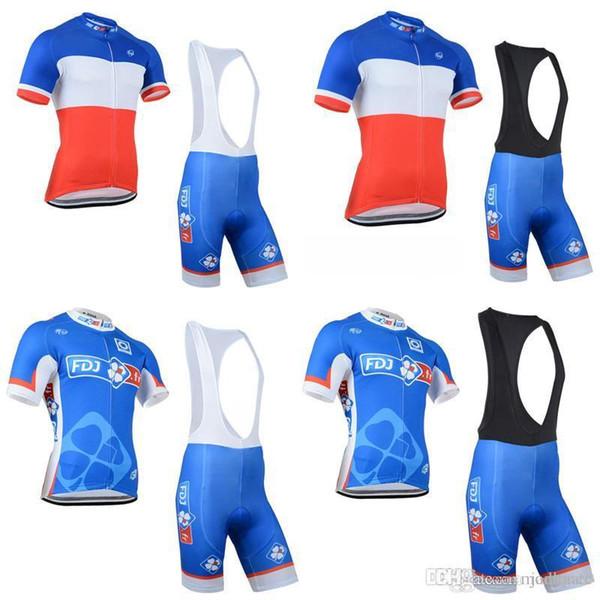 Pro Team Fdj équipe cyclisme maillot manches courtes (bavette) shorts ensembles hommes vêtements de vélo vélo Sportswear C2407