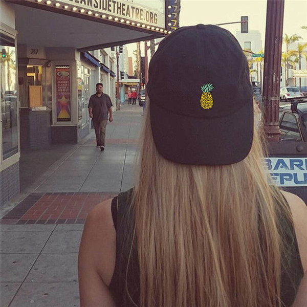 Spring Women's Cap Snapback 3D Pineapple Pattern Printed hat Men's Summer Baseball Caps Hip Hop hats For Girls Casquette Homme
