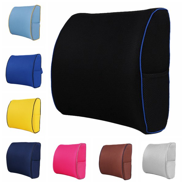 Phenomenal Lower Back Pain Relief Lumbar Support Pillow Memory Foam Posture Support Cushion For Office Chair Car Sofa Wheelchair Porch Cushions Patio Lounge Theyellowbook Wood Chair Design Ideas Theyellowbookinfo