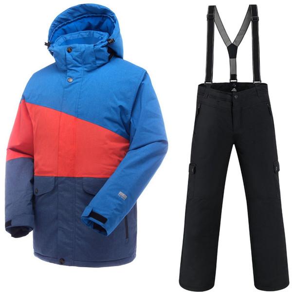 6a7da5675aff Saenshing Водонепроницаемый Лыжный Костюм Мужчины Горные Лыжи Куртка +  Сноуборд Брюки Дышащая Зима Снег Набор Снегоход