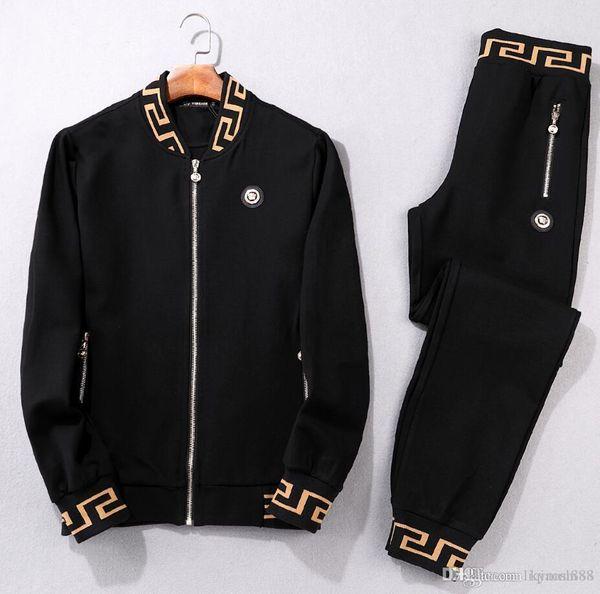 Men Sportswear Hoodie And Sweatshirts Black White Autumn Winter Jogger Sporting Suit Mens Sweat Suits Tracksuits Set Plus Size M-3XL#002