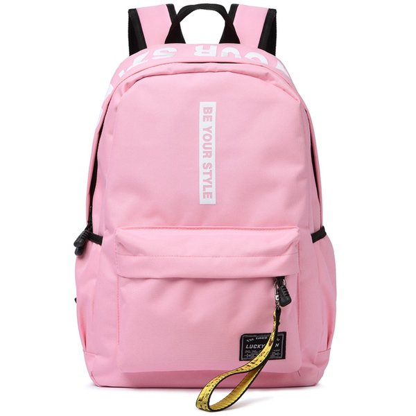 2019 New Fashion preppy style letter panelled women backpack girl schoolbag ladies small travel bag student school backpacks