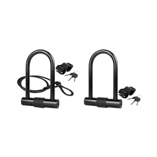 1Set MTB Road Bike Bicycle Lock Cable Steel Anti-Theft U Shape Alloy Steel Lock Anti Hydraulic Shear Heavy Duty Locks with Keys #243350