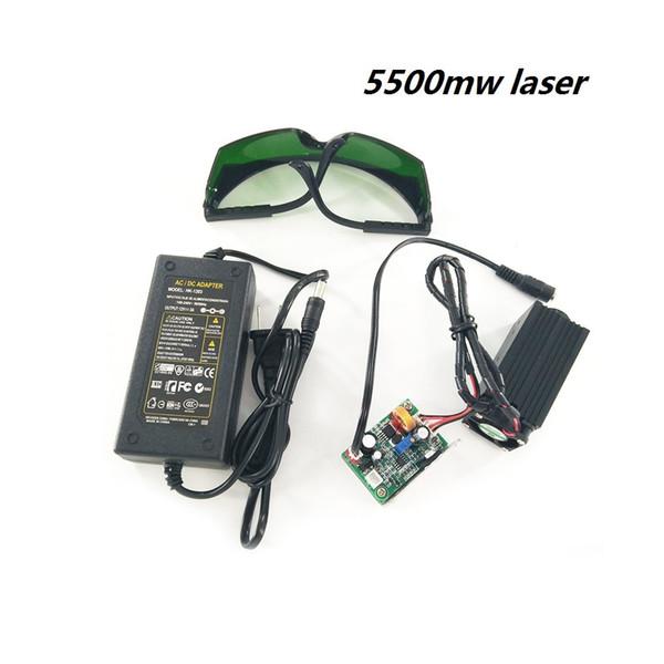 5500mw tête laser forCNC3018 CNC2418 CNC1610 Machine de gravure en bois routeur Sculpture PCB Milling Machine
