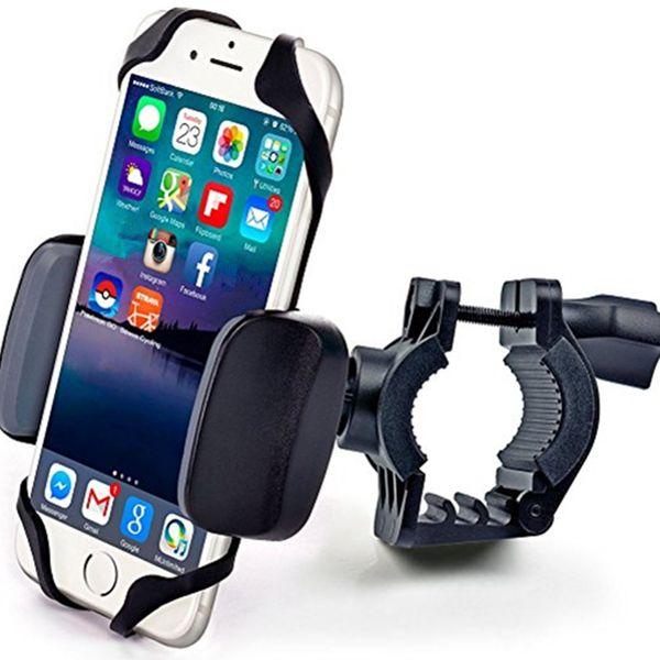 universal Bicycle cellphone Mount Bracket Handlebar Clip Stand Bicycle Adjustable Phone Holder Anti-Slip Bike for iPhone Samsung Bicicleta