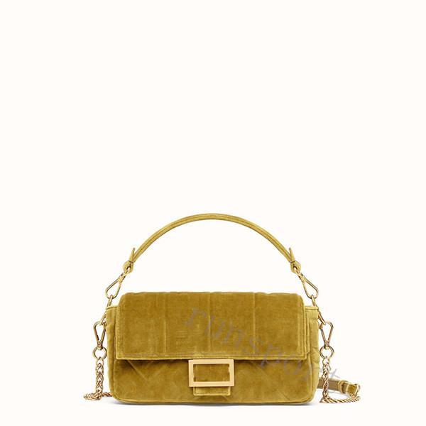top popular 2019 velvet designer bag FF suede High quality brand lady bags handbags luxury women f crossbody bags 3 colors 26cm 2019