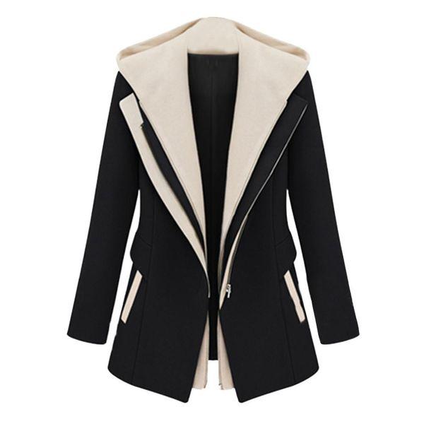Senhoras Trabalho Terno Manga Comprida Escritório Com Capuz Removível Casaco mulheres jaquetas de escritório Blazer Casacos de mulheres feitas sob encomenda blazers plus size