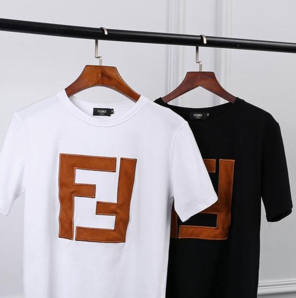 Frauen Designer Luxus nmFendi T-Shirt Art und Weise Sommer neuestes Design und hohe Qualität Männer-T-Shirt klassisch Brief Top-Stickerei der Frauen