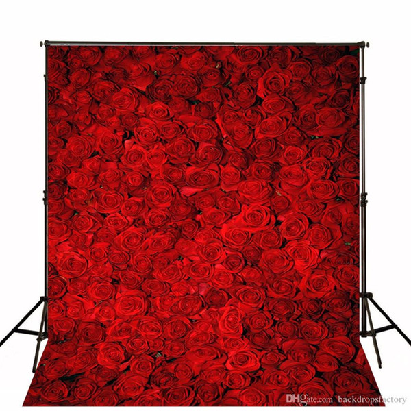 Fondali in 3D per foto di matrimonio con rose rosse stampate con computer