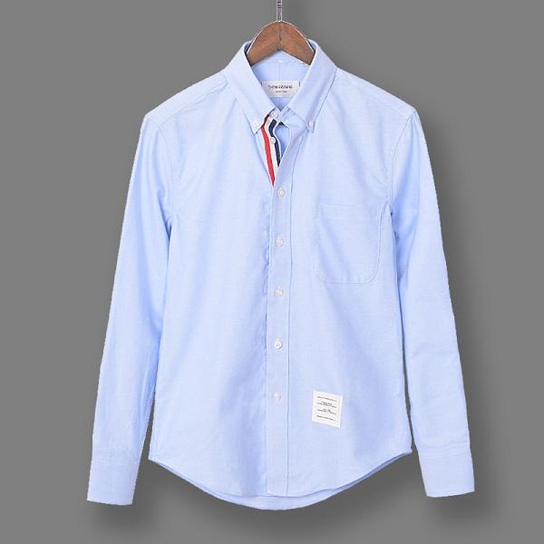 Early spring fashion TB long-sleeved shirt men and women couple fashion trend Slim shirt casual TB wind shirt