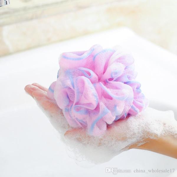 Higiénico Medio ambiente PE Suave bola de baño burbujas ricas burbujas de esponja de baño Accesorios de ducha de baño envío gratis