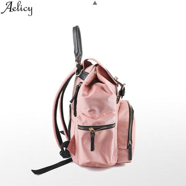 Aelicy Moda Mumya Oxford Çanta Nappy Ücretli Büyük Kapasiteli Yüksek Kalite Hemşirelik Çanta Seyahat Omuz Bagpack mochila