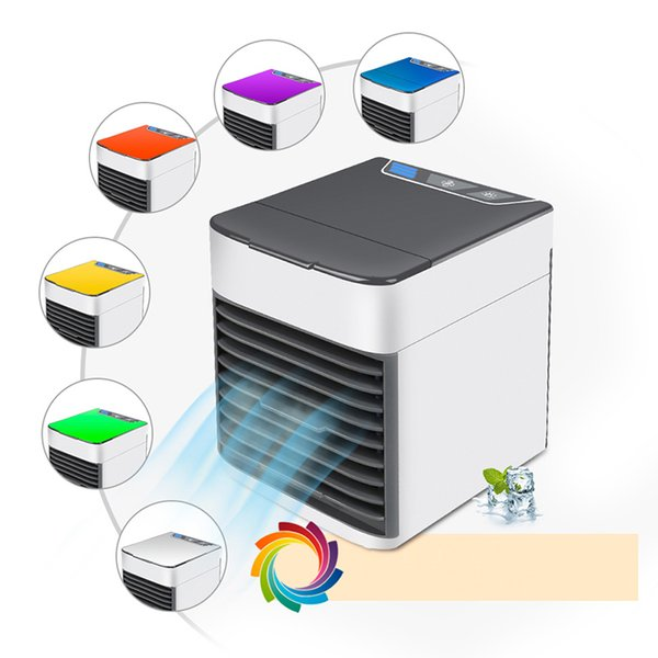 Mini Portable USB Air Conditioner Conditioning Humidifier Purifier 7 Colors LED light Personal Arctic Air Cooler Cooling Fan For Home Office