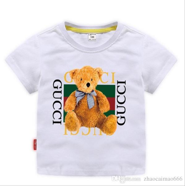 top popular 2019 New Designer Brand 2-8T Years Old Baby Boys Girls T-shirts Summer Shirt Tops Children Tees Kids shirts Clothing 2020