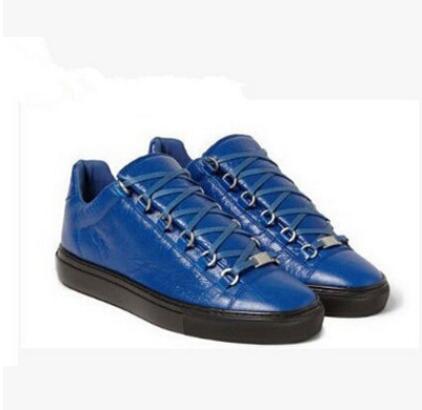 2017 Erkekler Klasik Hakiki Deri Arena Marka Flats Sneakers Erkek Düşük Üst Ayakkabı Moda Lüks Rahat Dantel Kadar Ayakkabı Boyutu 38-46.