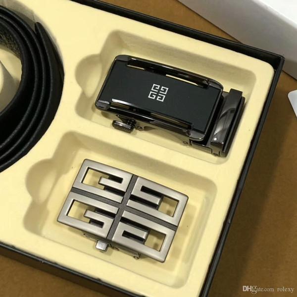 top popular 2019 hot g metal buckle brand h fashion luxury designer genuine leather mens belts for men Set gift box 3.5cm #01313089160 2019