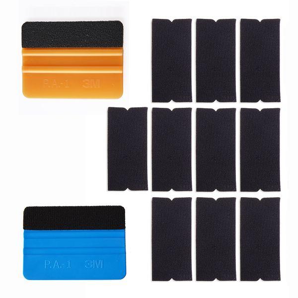 10PCS Plastic Felt Edge Squeegee Car Vinyl Wrap Application Tool Scraper Decal