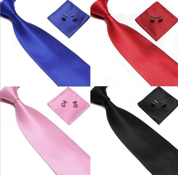 Krawatten-Manschettenknöpfe-Taschentuch der freien Verschiffen Männer stellten neues Weihnachtsgeschenk 100% SEIDE ein