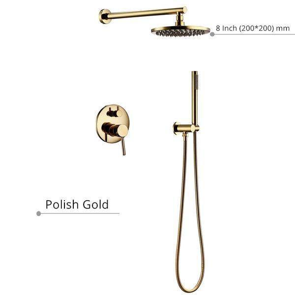 8 de ouro polegadas polonês