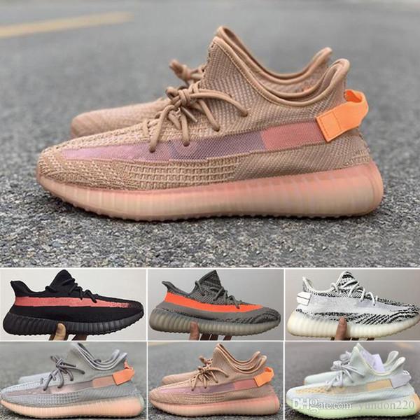 adidas yeezy 350 supreme 2018 All'ingrosso Kanye West V2 Clay Orange Scarpe da corsa Uomo Donna Sport Sneakers Crema Zebra Whtie Bred Sesame Scarpe