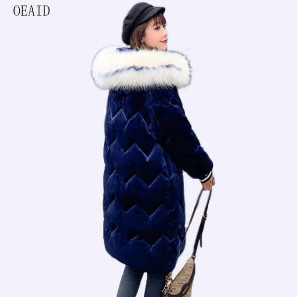 New plus size 3XL fur coat women parka long 2019 winter coat women jackets outerwear snow wear casual ladies coats
