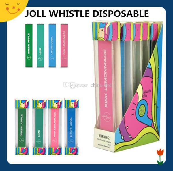Joll Whistle Kit Одноразовые ручки Vape 280 мАч 1.3 мл Vape картриджи с 4 вкусами Vgod Стиг Стручки