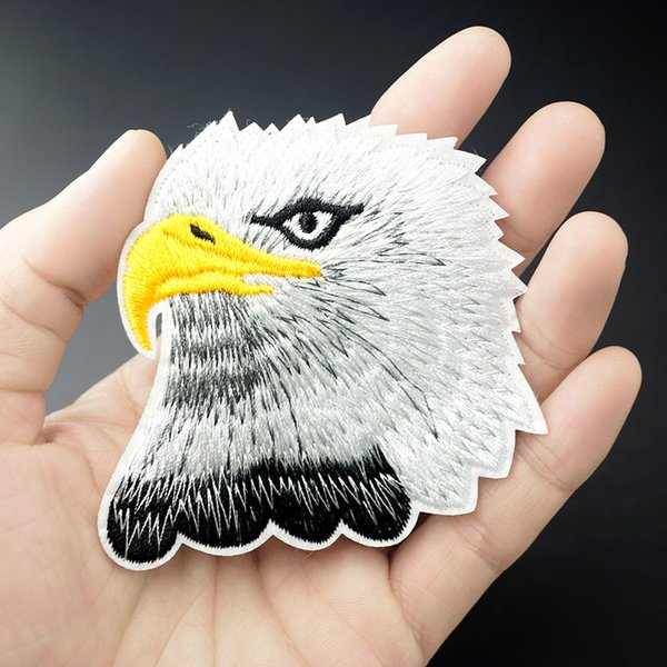 Eagle Size:7.5x7.8cm Patch for Clothing Iron on Embroidered Sew Applique Cute Fabric Badge DIY Apparel Accessories