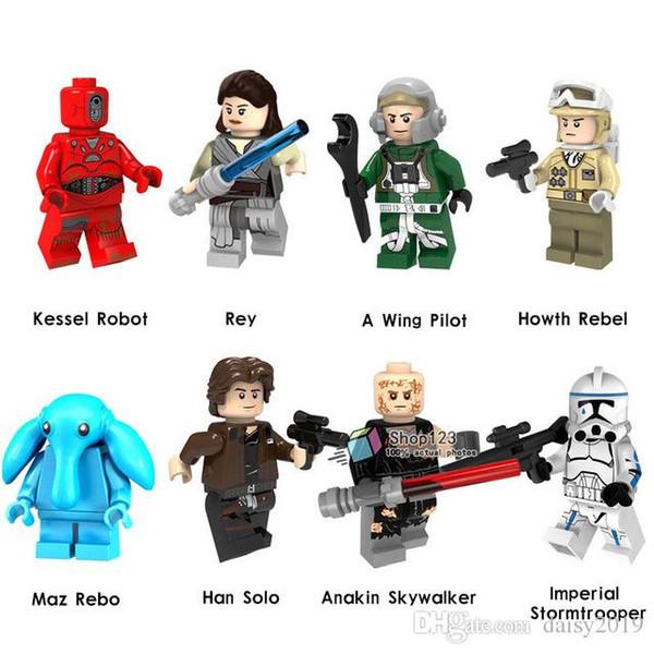 Rey Han Solo Stormtrooper Hoth Rebelde Anakin A Asa Piloto Crianças Brinquedos de Presente PG8145