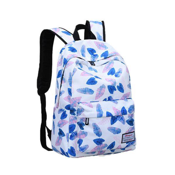 fashion Cute Floral Printing Backpack Laptop Backpack Travel bag School Bags for Teenage Girls Children Schoolbags kids mochila