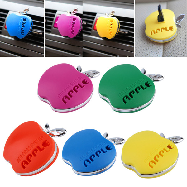 best selling Auto Car Air Freshener Outlet Perfume Scent Interior Apple Shape Aromatherapy Fashion Car Air Freshener Car Styling Free Shipping