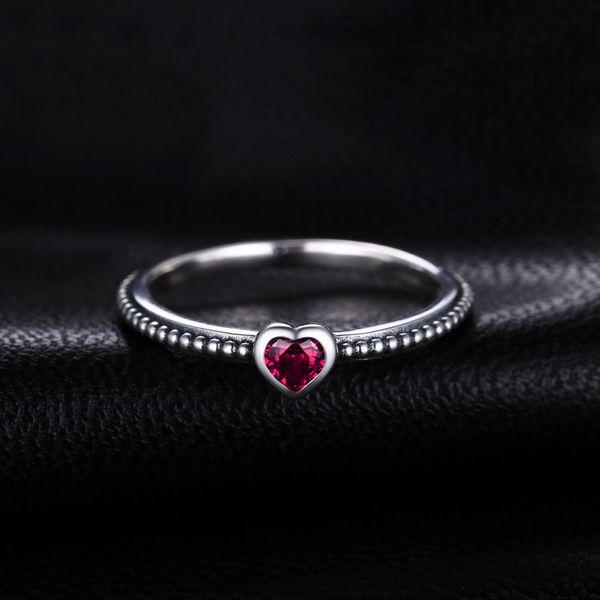 2020 Сердце Красных муранское стекло кольцо Серебряных кольца 925 для женщин стекируемого кольца диапазона Серебро 925 ювелирных изделия Fine Jewelry