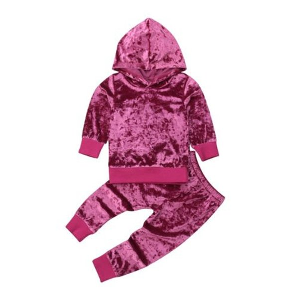 Toddler Baby Girl Long Sleeve Solid Color T-shirt Tops Long Pants Leggings Outfit Toddler Autumn Cotton Girls Clothes Set