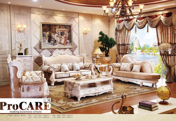 2019 Italian Blue Fabric Sofa Sets Living Room Furniture,Antique Style  Wooden Sofa Baroque Furniture From Foshan Market From Procarefoshan,  $2381.91 | ...