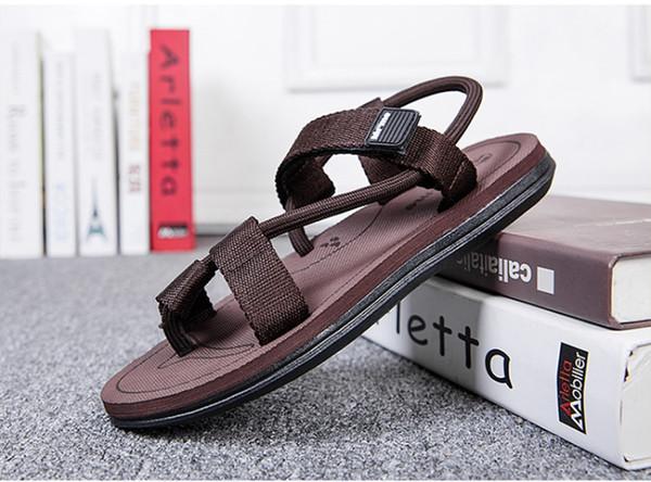 BONJEAN Sandali da uomo casual leggeri estivi Cool Pantofole da strada Infradito Comfort Scarpe da spiaggia uomo antiscivolo Zapato