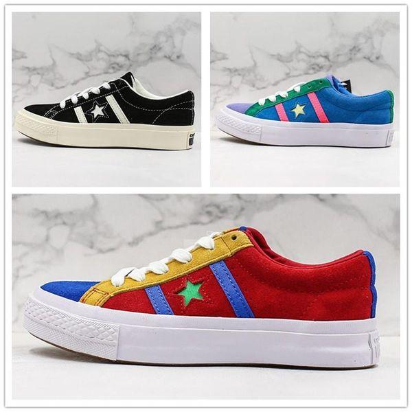 Создатель х Jack Star Ox Golf Le Fleur TTC Бары J замша Jolly Hip Hop Sneaker тренер Холст обувь Дизайнер мужской Скейт обувь
