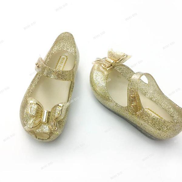 Nueva moda Mini zapatos para niños zapatos de mariposa para niños diseñador sandalias para niños jalea sandalias para niños pequeños zapatos de playa para niños A6126