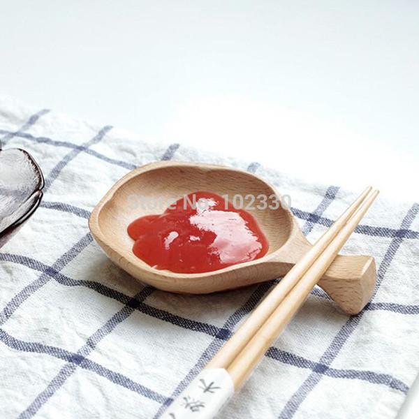 Japan Style Small Beech Wood Dish Dessert Plate Dried Fruit Tray Sakura Cherry Blossom Chopsticks Holder