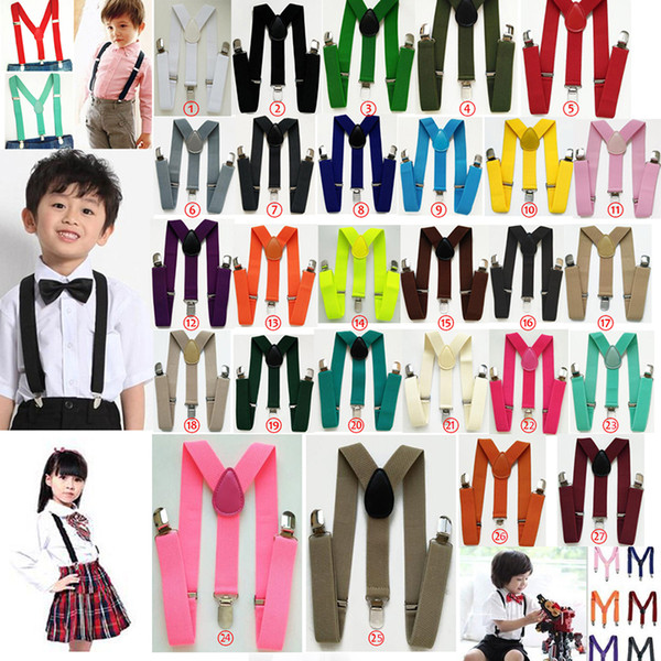 Belt Children Baby Boys And Girls Suspenders Clip-on Y-Back Braces Elastic Kids Suspenders Kids Suspender Braces Wholesale Price