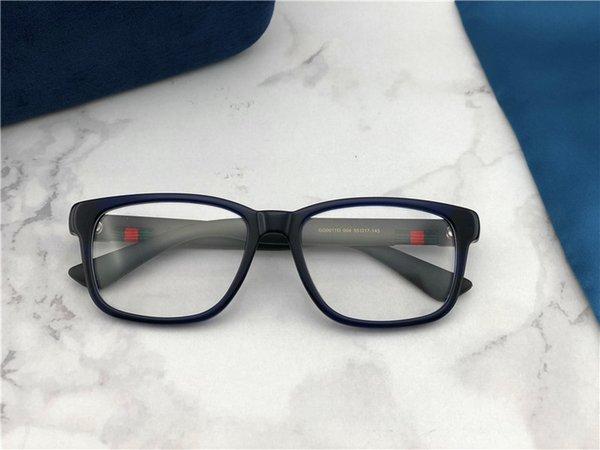 New best selling moda óculos ópticos quadrado simples quadro popular generoso estilo casual moldura de lente transparente 0011