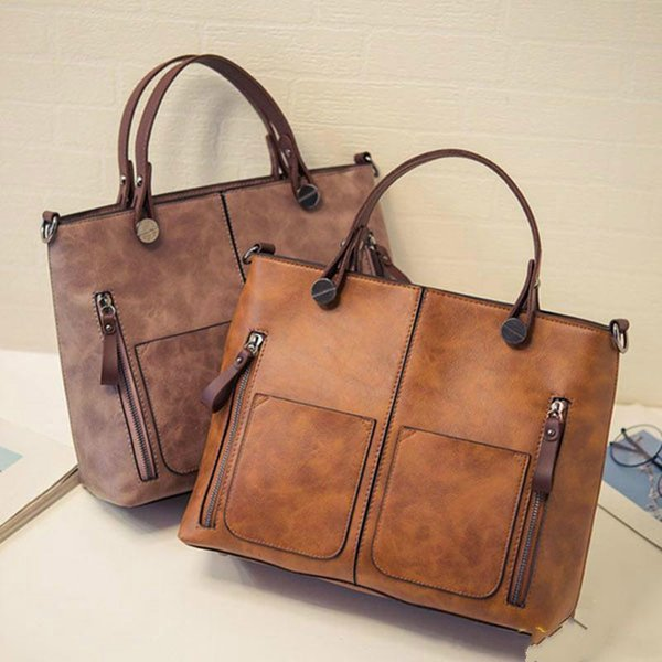 2019 winter New hot sale single shoulder bags for women totes vintage style designer women handbags PU leather