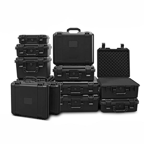 Herramienta Maleta de seguridad resistente a los impactos Caja de herramientas Caja de archivos Equipo Caja de la cámara con revestimiento de espuma precortada Q190603