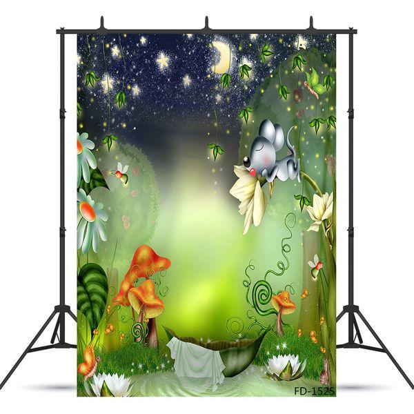 fairy tale Vinyl photography background for child baby shower portrait backdrop photo studio