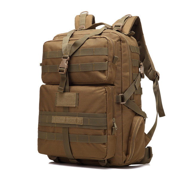 BL068 3P 45L Outdoor Marching Knapsack Tactical Backpack Khaki