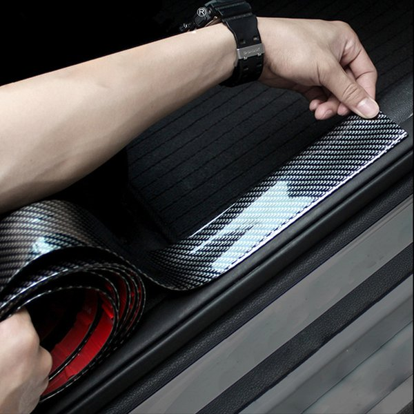 Car Stickers 5D Carbon Fiber Rubber Styling Door Sill Protector Goods For KIA Toyota BMW Audi Mazda Ford Hyundai etc Accessories